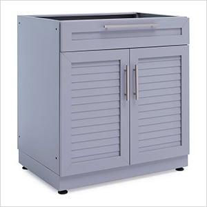 Aluminum Coastal Grey Combo Bar Cabinet