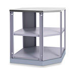 NewAge Outdoor Kitchens Aluminum Coastal Grey 90-Degree Corner Shelf