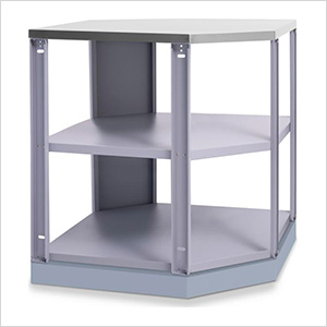 Aluminum Coastal Grey 90-Degree Corner Shelf