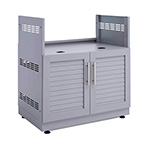 "NewAge Outdoor Kitchens Aluminum Coastal Grey 33"" Insert Grill Cabinet"