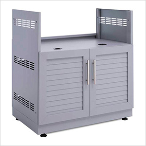 "Aluminum Coastal Grey 33"" Insert Grill Cabinet"