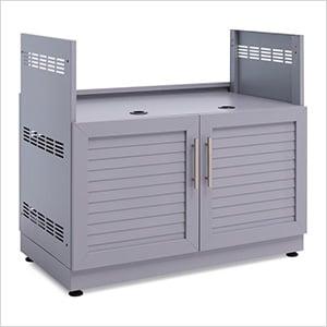 "Aluminum Coastal Grey 40"" Insert Grill Cabinet"