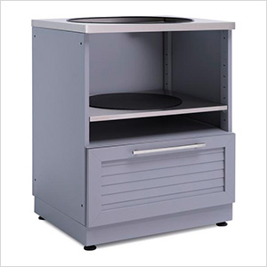 "Aluminum Coastal Grey 28"" Kamado Cabinet"