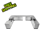 NewAge Outdoor Kitchens Stainless Steel 17-Piece Outdoor Kitchen Set with Countertops