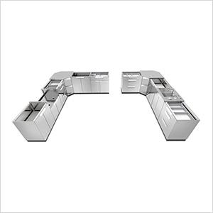 Stainless Steel 11-Piece Outdoor Kitchen Set