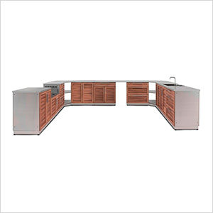 Grove 17-Piece Outdoor Kitchen Set with Countertops