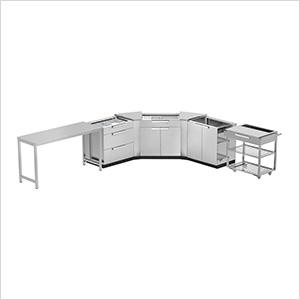 Stainless Steel 7-Piece Outdoor Kitchen Set