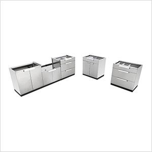 Stainless Steel 5-Piece Outdoor Kitchen Set