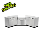 NewAge Outdoor Kitchens Stainless Steel 7-Piece Outdoor Kitchen Set with Countertops