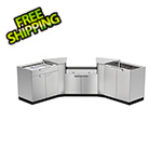 NewAge Outdoor Kitchens Stainless Steel 5-Piece Outdoor Kitchen Set with Countertops