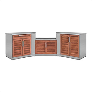 Grove 7-Piece Outdoor Kitchen Set with Countertops