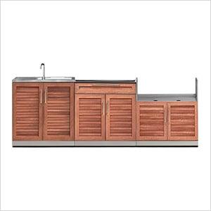 NewAge 65687 | Grove 3-Piece Outdoor Kitchen Set on Patio Kitchen Set id=63662