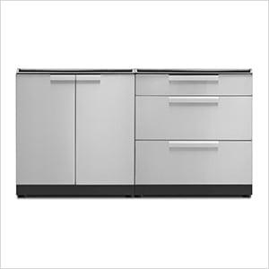 Stainless Steel 2-Piece Outdoor Kitchen Set