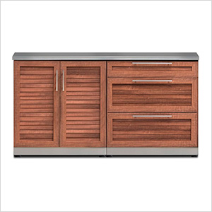 Grove 3-Piece Outdoor Kitchen Set with Countertops and Covers