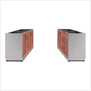 NewAge 65714 | Grove 4-Piece Outdoor Kitchen Set on Patio Kitchen Set id=17863