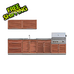 NewAge Outdoor Kitchens Grove 9-Piece Outdoor Kitchen Set with Countertops and Covers