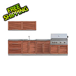NewAge Outdoor Kitchens Grove 9-Piece Outdoor Kitchen Set with Countertops