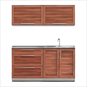 Grove 5-Piece Outdoor Kitchen Set with Countertops and Covers