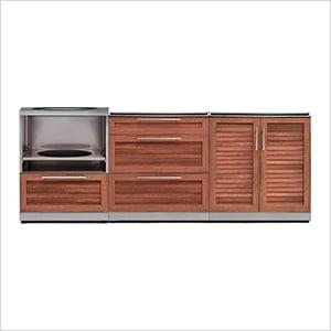 NewAge 66653 | Grove 3-Piece Outdoor Kitchen Set on Patio Kitchen Set id=95547