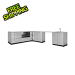 NewAge Outdoor Kitchens Stainless Steel 7-Piece Outdoor Kitchen Set with Countertops and Covers