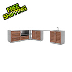 NewAge Outdoor Kitchens Grove 7-Piece Outdoor Kitchen Set with Countertops and Covers