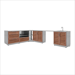 Grove 7-Piece Outdoor Kitchen Set with Countertops and Covers