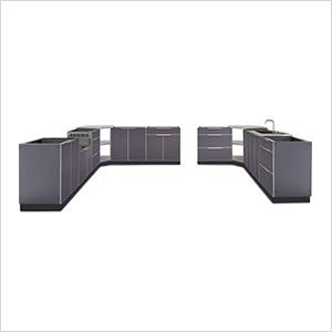 Aluminum Slate 11-Piece Outdoor Kitchen Set