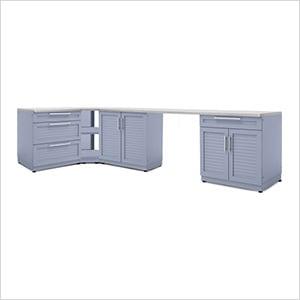 Coastal Grey 6-Piece Outdoor Kitchen Set with Countertops