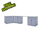 NewAge Outdoor Kitchens Coastal Grey 6-Piece Outdoor Kitchen Set with Countertops and Covers