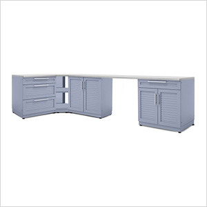 Coastal Grey 6-Piece Outdoor Kitchen Set with Countertops and Covers