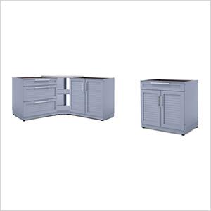 Coastal Grey 4-Piece Outdoor Kitchen Set