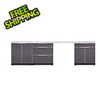 NewAge Outdoor Kitchens Aluminum Slate 5-Piece Outdoor Kitchen Set with Countertops and Covers