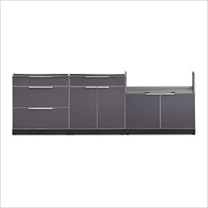Aluminum Slate 3-Piece Outdoor Kitchen Set