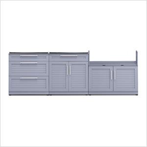 Coastal Grey 3-Piece Outdoor Kitchen Set