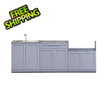 NewAge Outdoor Kitchens Coastal Grey 4-Piece Outdoor Kitchen Set with Countertops and Covers