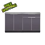 NewAge Outdoor Kitchens Aluminum Slate 3-Piece Outdoor Kitchen Set with Countertops
