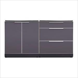 Aluminum Slate 2-Piece Outdoor Kitchen Set