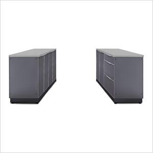 Aluminum Slate 6-Piece Outdoor Kitchen Set with Countertops