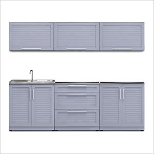 Coastal Grey 6-Piece Outdoor Kitchen Set