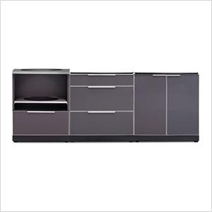 NewAge 66253 | Aluminum Slate 3-Piece Outdoor Kitchen Set on Patio Kitchen Set id=95795