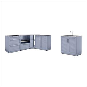 Coastal Grey 5-Piece Outdoor Kitchen Set