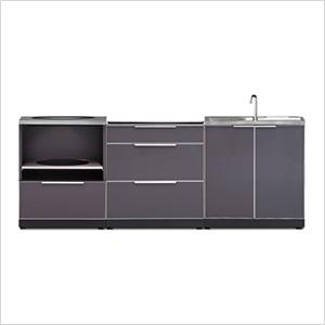NewAge 66259 | Aluminum Slate 3-Piece Outdoor Kitchen Set on Patio Kitchen Set id=92428