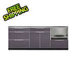 NewAge Outdoor Kitchens Aluminum Slate 4-Piece Outdoor Kitchen Set with Countertops and Covers