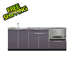 NewAge Outdoor Kitchens Aluminum Slate 4-Piece Outdoor Kitchen Set with Countertops