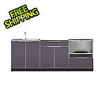 NewAge Outdoor Kitchens Aluminum Slate 3-Piece Outdoor Kitchen Set