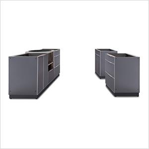 Aluminum Slate 5-Piece Outdoor Kitchen Set