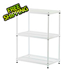 Design Ideas MeshWorks 3-Tier Shelving Unit (White)