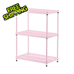 Design Ideas MeshWorks 3-Tier Shelving Unit (Pink)