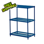 Design Ideas MeshWorks 3-Tier Shelving Unit (Blue)