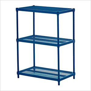 MeshWorks 3-Tier Shelving Unit (Blue)